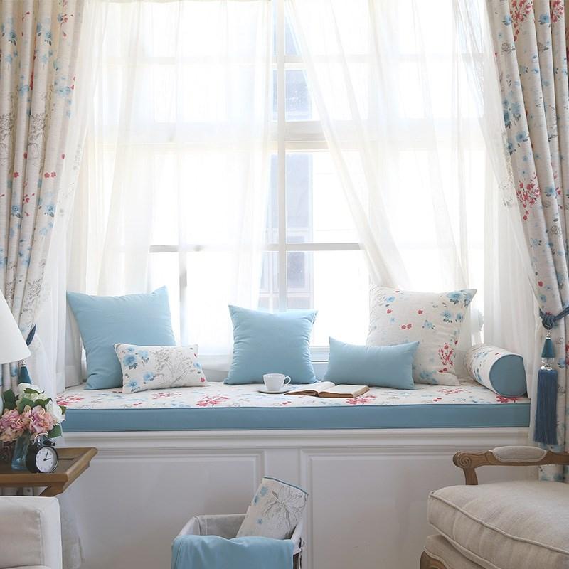 卧室飘窗新品榻榻米窗台定做阳台垫满130.80元可用1元优惠券