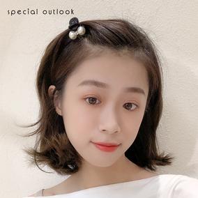 头顶小发夹女韩国珍珠夹子刘海夹