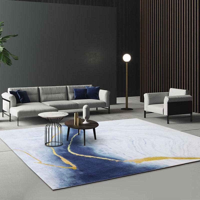 现代简约轻奢客厅家用高级茶几毯好用吗