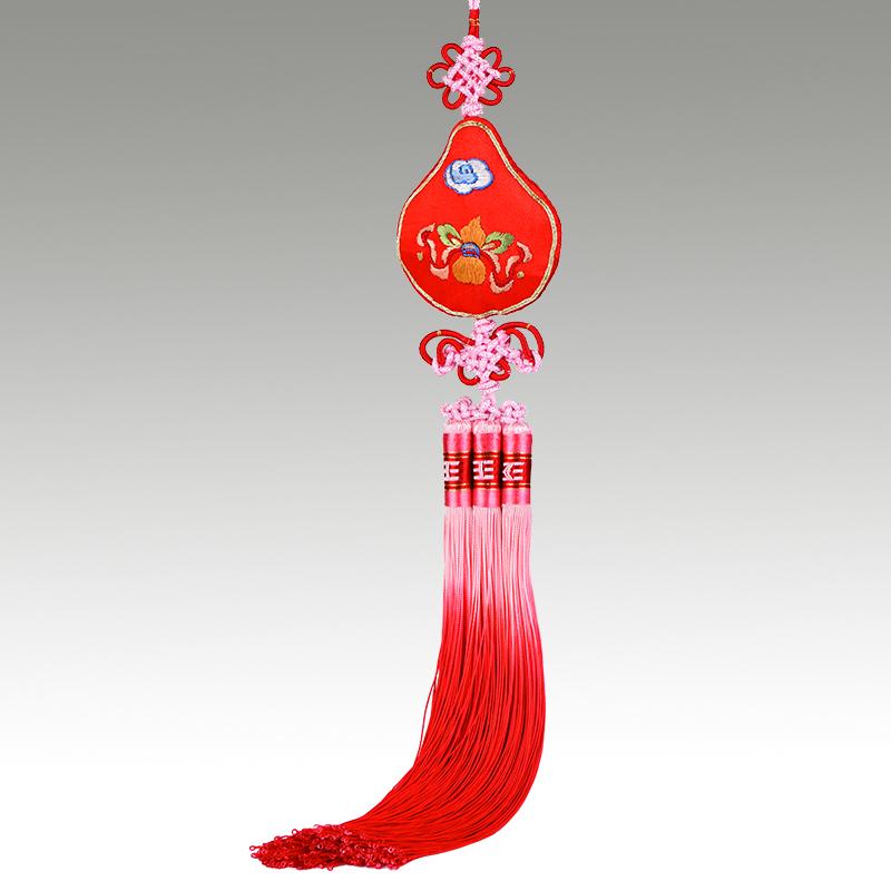 车挂件保平安个性创意车内葫芦挂件汽车挂饰老外苏绣礼品中国