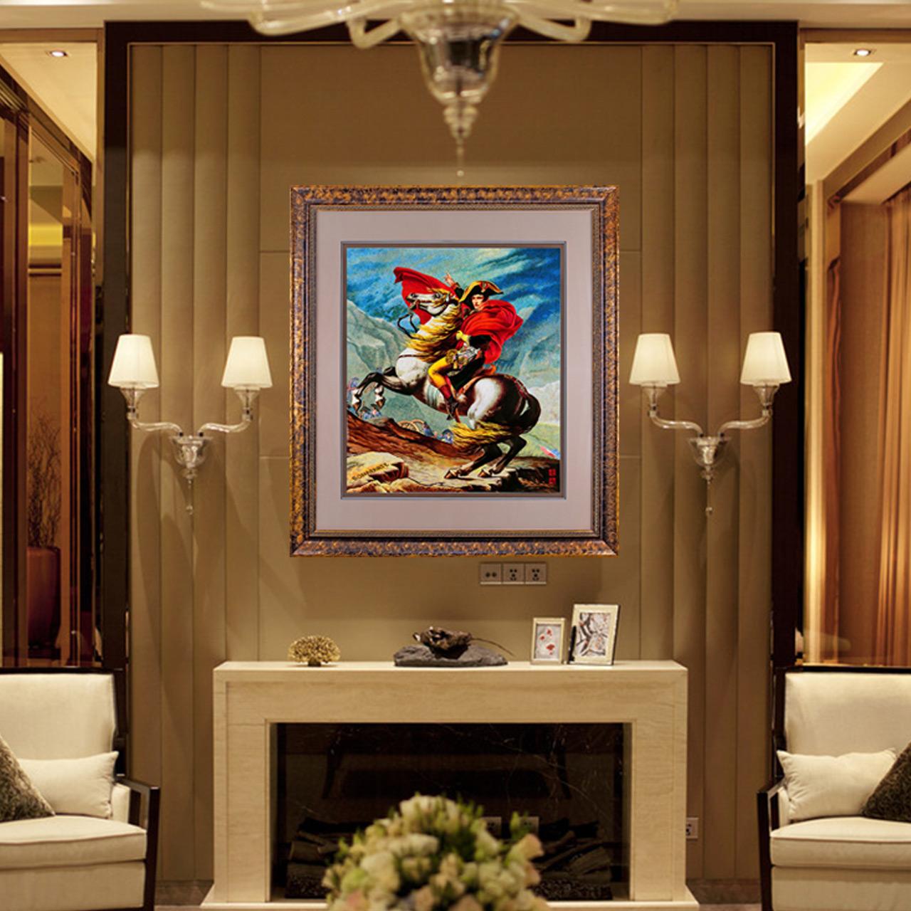 江南绣庄拿破仑苏绣成品挂画客厅纯手工绣花刺绣手工画苏州刺绣画