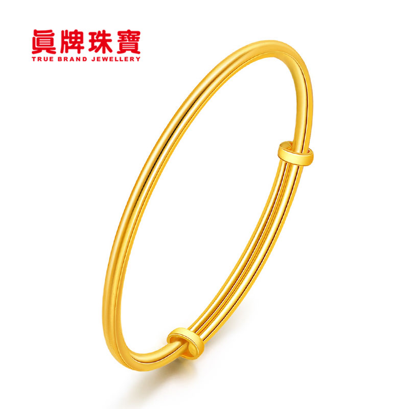 Real brand jewelry simple body bright face full gold 999 gold womens Wedding Gold Bracelet gec8819