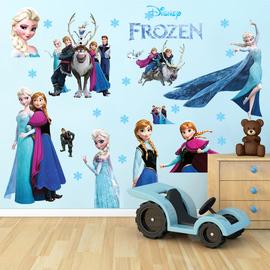 卡通动漫冰雪奇缘爱莎贴画客厅沙发卧室装饰墙贴儿童公主房墙贴纸