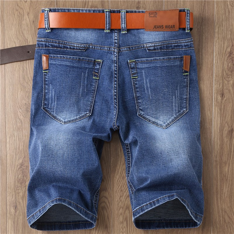 College youth hole mens jeans shorts bobbin pants fashion new style out zipper front and back jeans Stripe Men