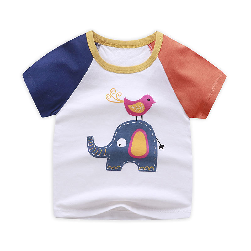 Childrens clothing childrens Cotton Short Sleeve T-Shirt Top Boys and girls baby short sleeve top baby clothes