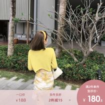 领宽松套头收腰短袖冰丝薄针织衫上衣女V夏季新款韩版蝴蝶结2020