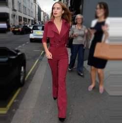 欧美2020春秋新女装时尚明星走秀新款高端气质长裤显瘦阔腿连体裤