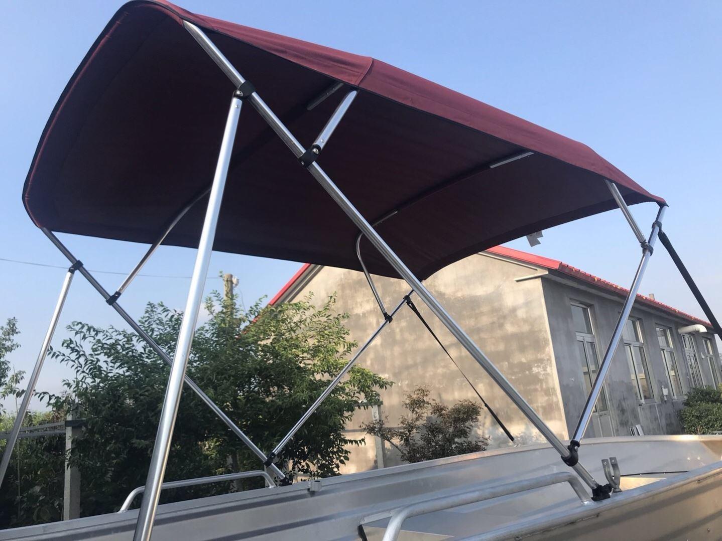 遮雨蓬加固顶部雨蓬棚子铝合金快艇遮阳棚钓鱼船高速冲锋舟船用