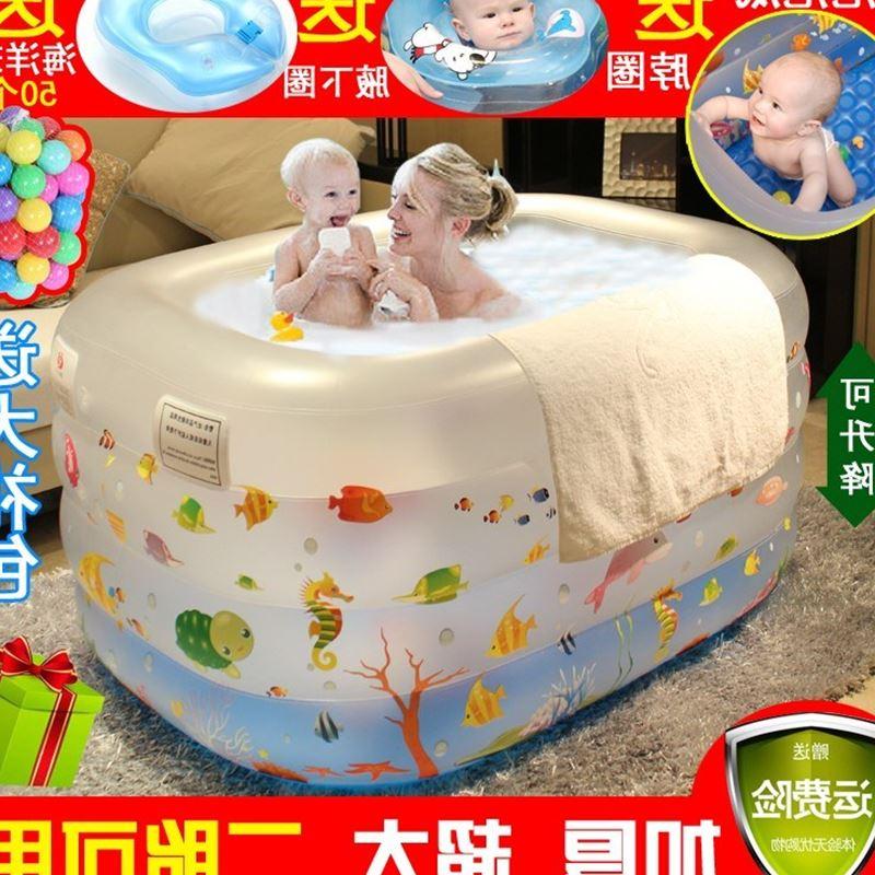 初生婴儿0-1-2岁3-4-5-6个月宝宝游泳池小朋友家用充气戏水玩具(非品牌)