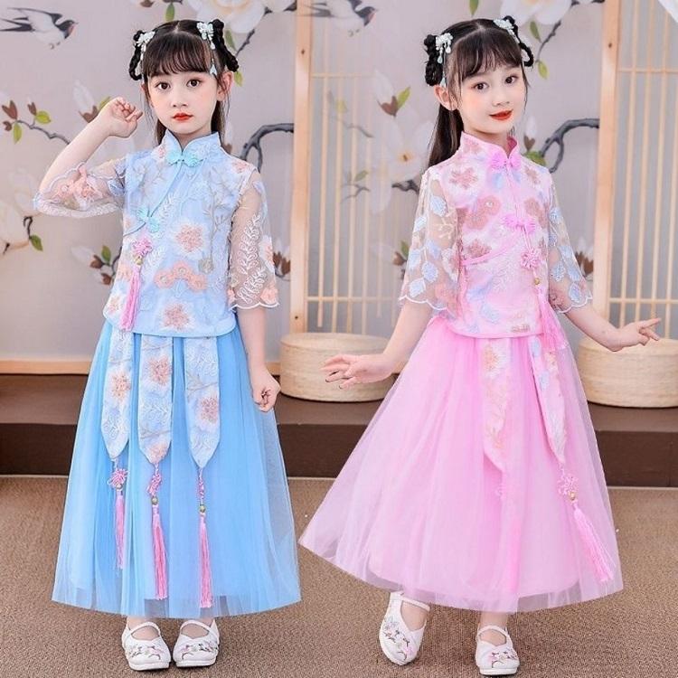 女童汉服夏款儿童古装超仙夏款中国风唐装2021新款唐装