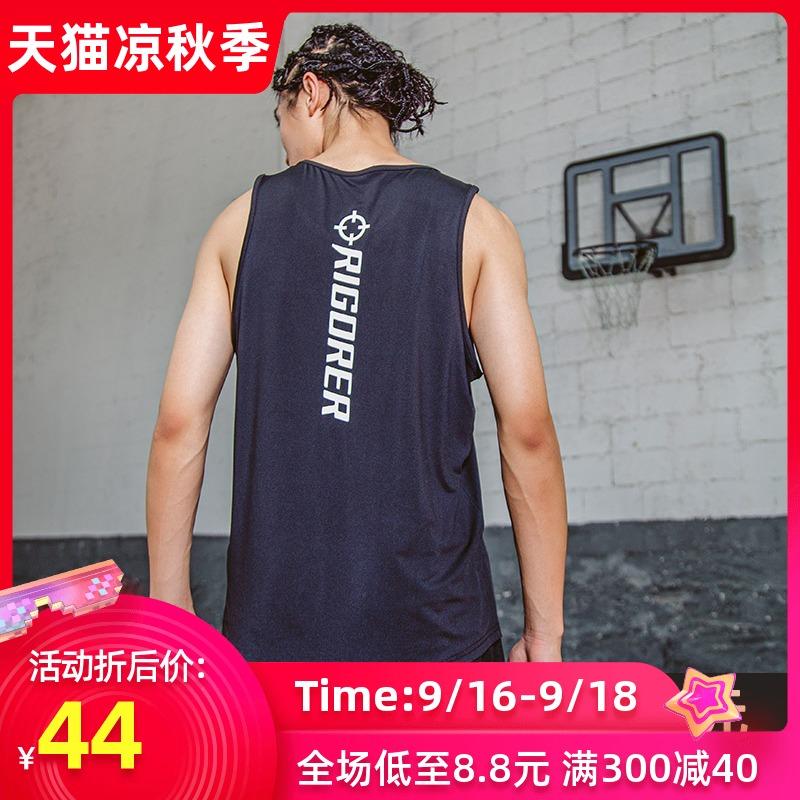 准者运动篮球背心无袖男士速干宽松大码跑步运动休闲健身训练上衣