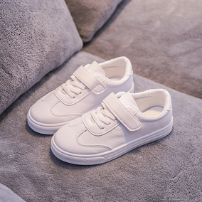 儿童2021春季新款皮面女童帆布鞋