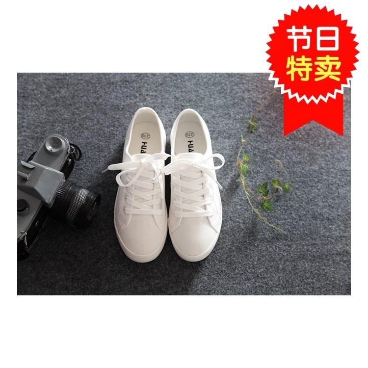 夏季初中生个性百搭小白鞋白布鞋简单帆布鞋时尚搭裙子防滑妹子夏
