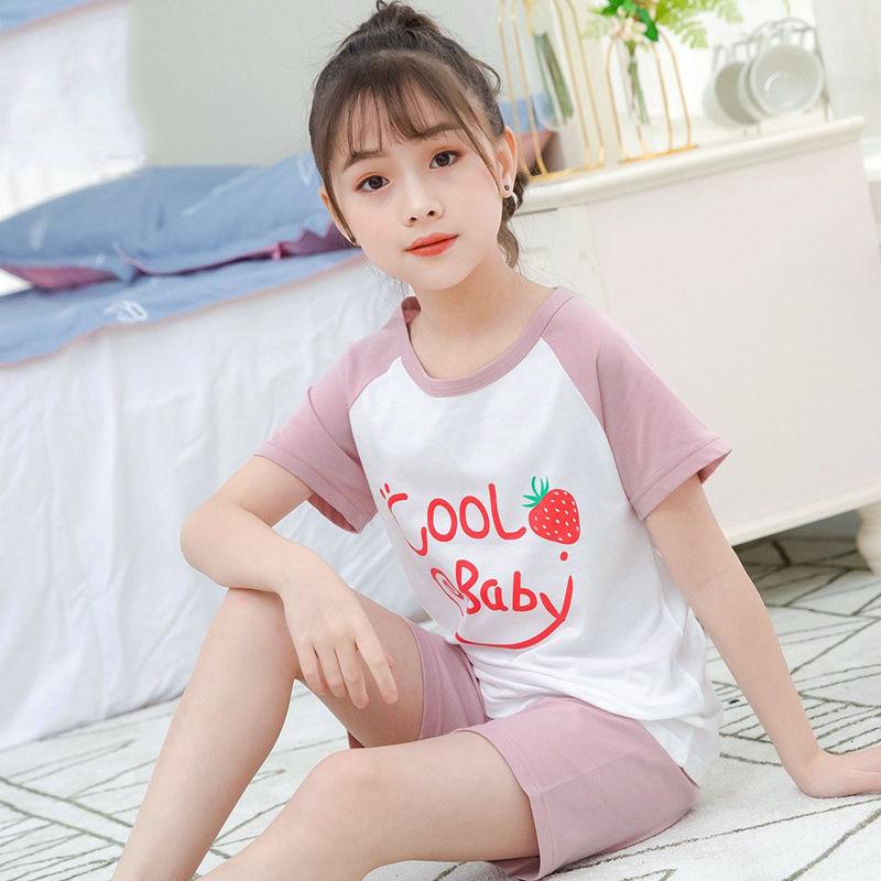 儿童睡衣女童家居服薄款空调服套装