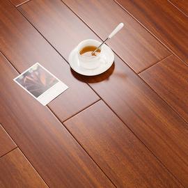纯实木地板原木厂家直销圆盘豆黑胡桃色家用卧室环保耐磨可免龙骨图片