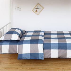 宿舍纯棉三件套学生单人被子褥子枕头一套初中生床单被套床上用品