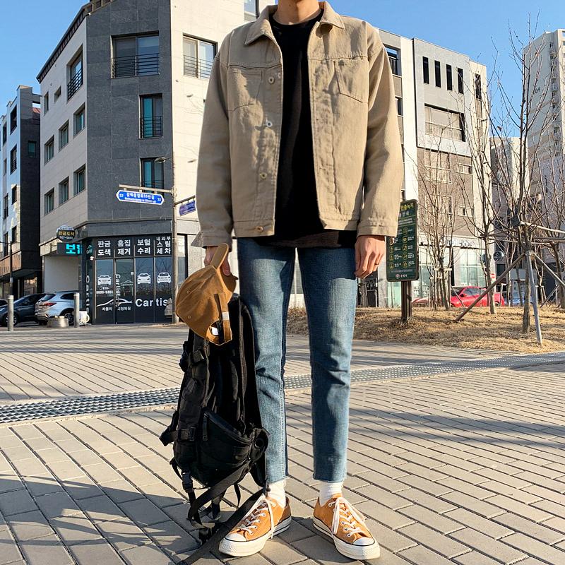 MRCYC秋冬季韩版外套男士ins潮流百搭学生夹克休闲帅气工装上衣服图片