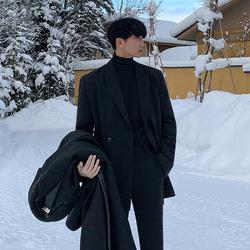 MRCYC冬季新款情侣小西装韩版休闲帅气单西西服宽松潮流男士外套