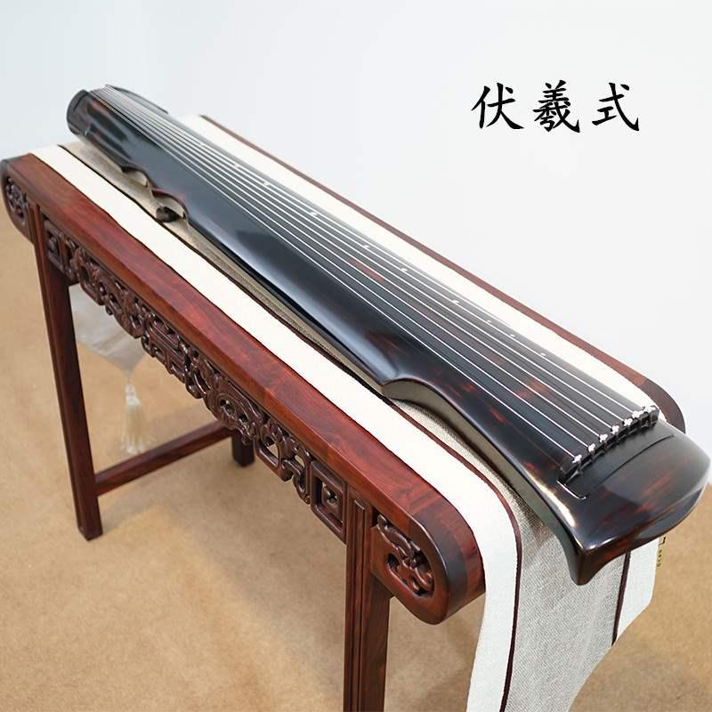 新古琴老杉木忘机琴初学者伏羲式七弦琴天然生漆仲尼式演奏级包邮