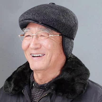 冬天男土时尚毛呢前进帽冬季中老年休闲保暖冒子爸爸鸭舌帽子老爷