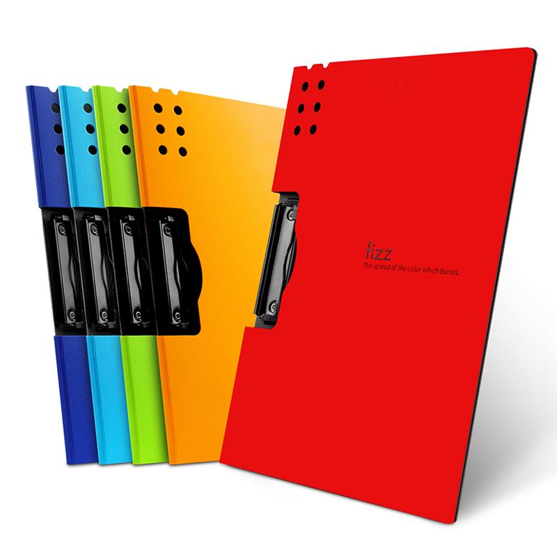 fizz文件夹a4板夹横式资料册写字垫板a3学生试卷夹书写办公用品文具定制收纳盒乐谱夹档案卷子试卷整理神器