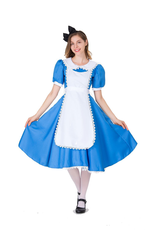 Cinderella dress Cosplay cartoon Alice maid long dress role play maid stage performance Costume