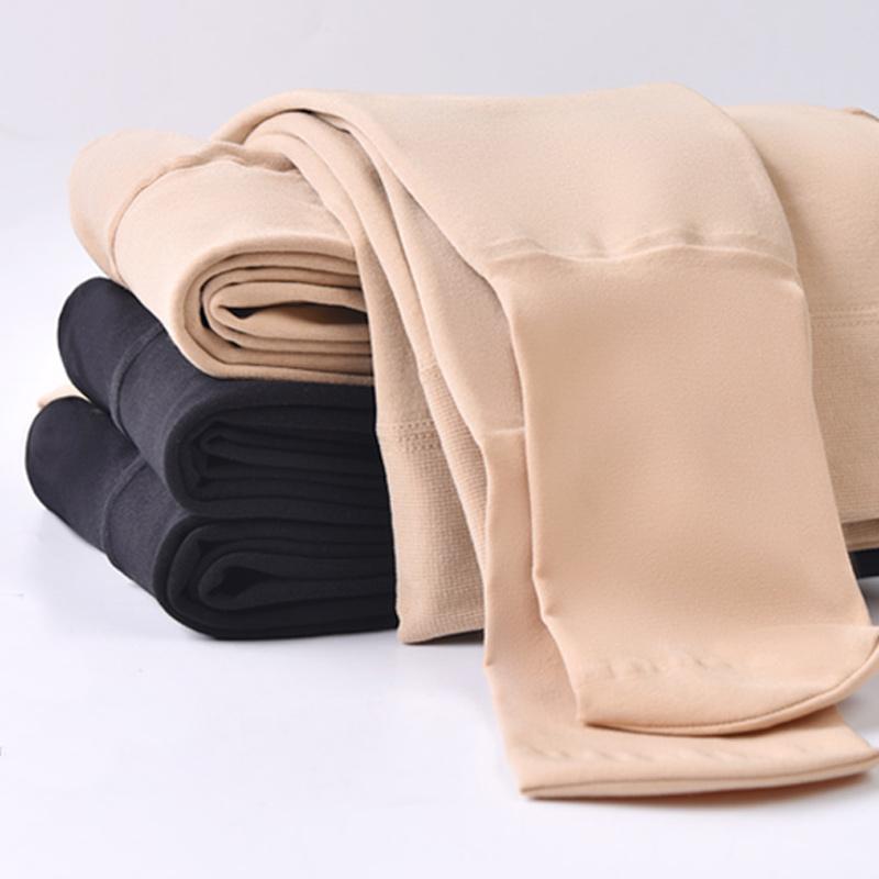 打底裤女压力瘦腿袜光腿显瘦神器秋冬大码加绒加厚肉色一体保暖裤