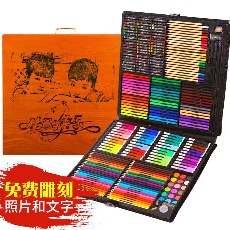 福荣轩儿童美术画画工具水彩笔画笔套装绘画蜡笔学习用品工具礼物