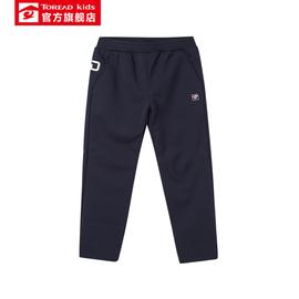 探路者童装 秋冬户外男童弹力保暖软壳裤儿童加绒运动裤图片