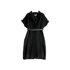 金帛锦品牌女装原创设计实体同款 纯羊毛双面呢大衣外套连衣裙