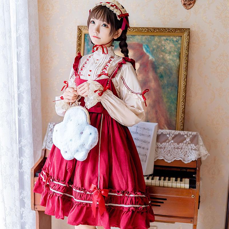 洛丽塔微渺洋装Lolita人形师可爱学生吊带jsk日常连衣裙子少女秋