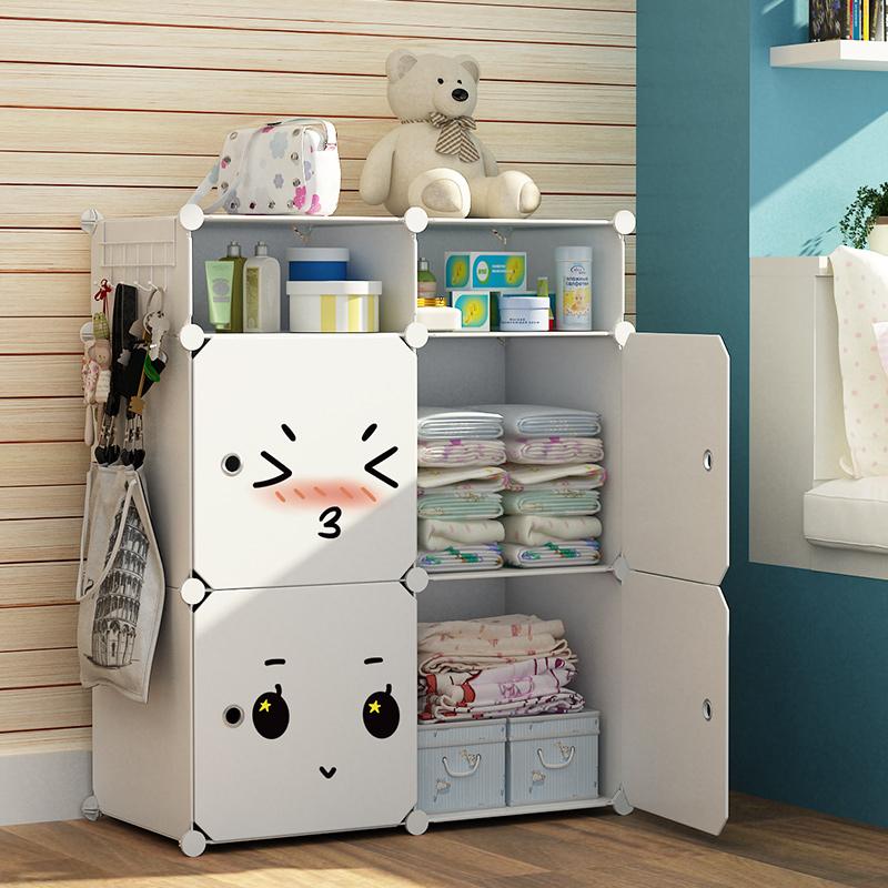 衣柜收纳柜子简易布衣柜床上出租房用衣服挂儿童储物省空间抽屉式