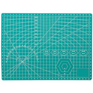 阿瑞斯A3垫板a4切割板大号手工写字书写考试卷画画美工作台pvc学生裁纸防割软桌垫绿色双面刻度模型雕刻板diy
