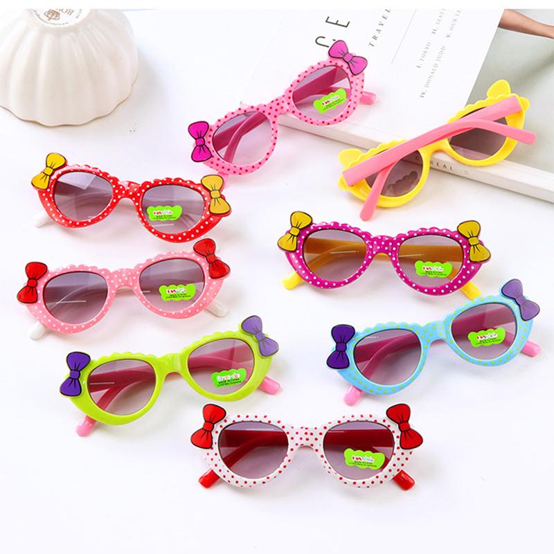 儿童眼镜墨镜学生太阳镜宝宝蝴蝶结韩版潮流时尚遮阳镜眼睛镜限9000张券