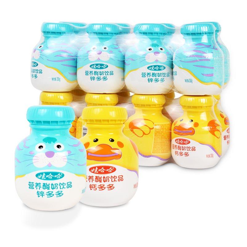 饮品钙多多/锌多多200g*4瓶/板儿童营养酸奶