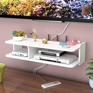 鸟笼置物架壁挂电视墙上卧室装饰路由器收纳盒机顶盒架客厅隔板免