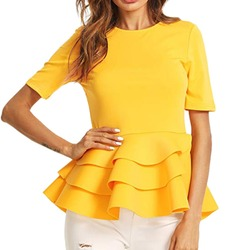 Solid Blouse Shirt Top Womens Tops Blouses