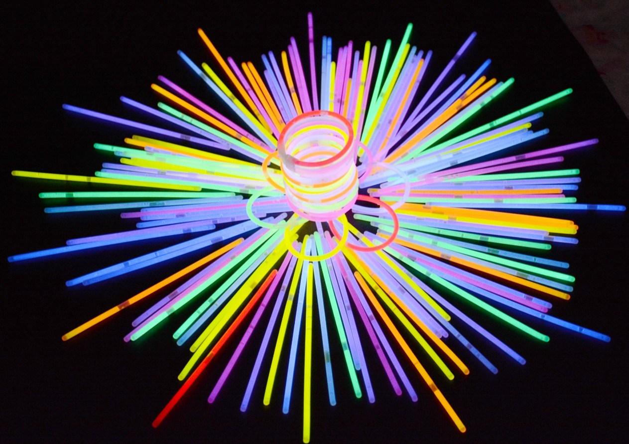 荧光棒  一次性手镯手环发光100支 演唱会聚会活动年会包新