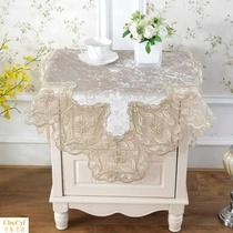 欧式床头柜盖布美式布艺简约现代桌布盖巾小圆桌多用电视冰箱盖布