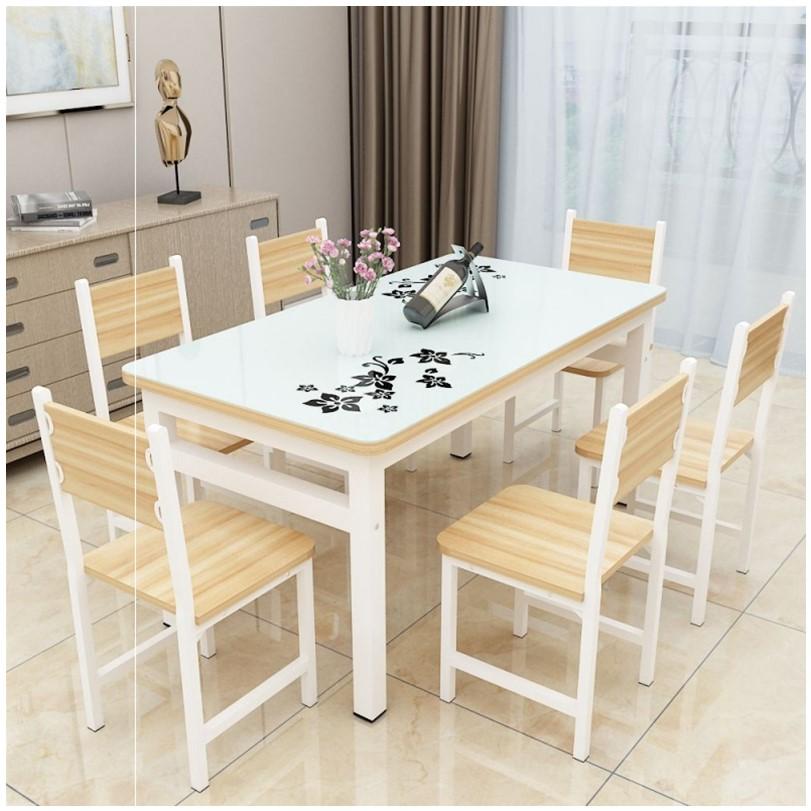 住宅家具餐桌椅组合家用长方形4人6人吃饭桌子简约现代小户大全