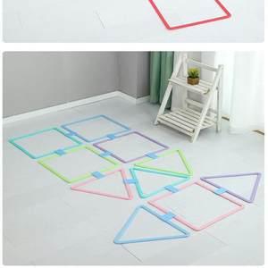 官网迪卡侬儿童跳房子格子圈圈感统训练器材室内体能运动家用游戏