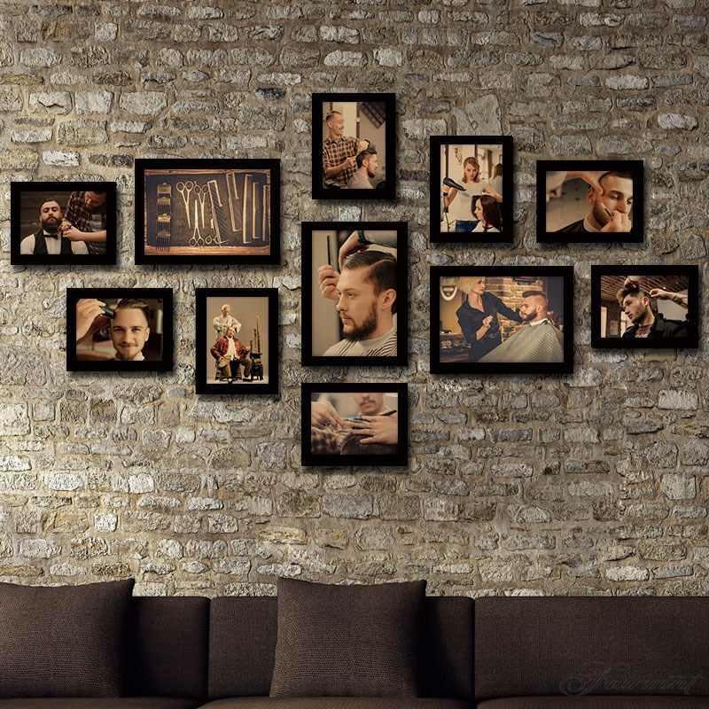 欧式复古乡村黑白美发店挂画发廊壁画理发店装饰画木质挂牌摆设品