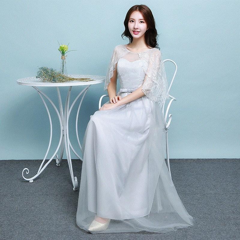 秋冬晚宴女士结婚高腰礼服伴娘长裙中国风长款宴会抹胸创意