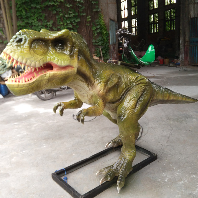 Customized large-scale simulation machine electric dinosaur coin scanning code riding childrens amusement park facilities and equipment