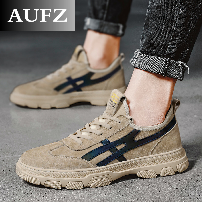 Aufz boots tooling autumn desert boots Martin boots mens middle top British style Korean low top fashion shoes