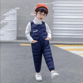 宝宝背带裤2小童保暖棉裤6加厚冬装小孩男女童长裤3岁婴儿5连体裤