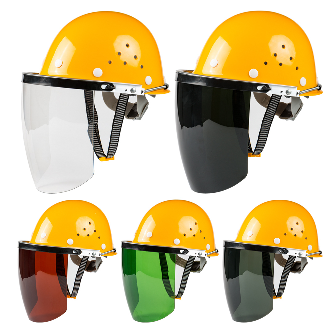 安全?#31508;?#30005;焊面罩烧焊工防护面屏防飞溅打磨透明焊帽头戴式