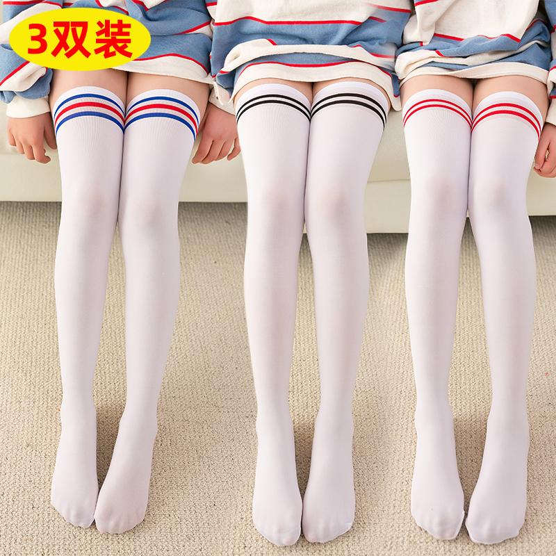 春夏季儿童长筒袜过膝盖女童高筒袜薄款丝袜学生大腿袜子男防勾丝