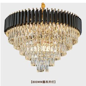 欧式客厅餐吊灯别墅主卧水晶吸顶灯轻奢欧美展厅大气水晶工程灯