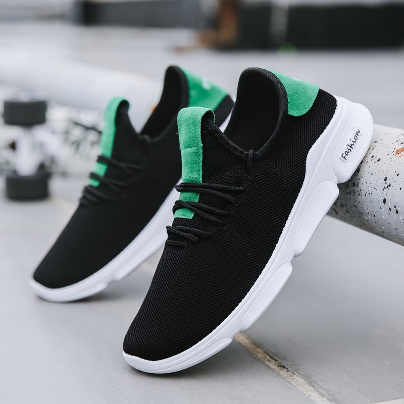 Flying woven mesh breathable casual shoes trend men's shoes
